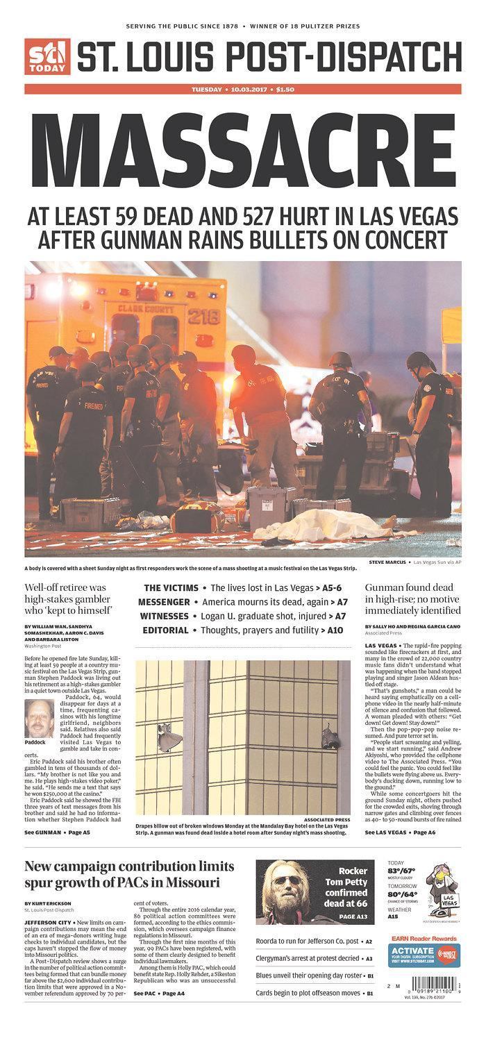 """<p>""""St. Louis Post-Dispatch,"""" published in St. Louis, Mo. (newseum.org) </p>"""