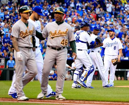 The Royals never got over Brett Lawrie's slide that injured Alcides Escobar. (Getty Images)