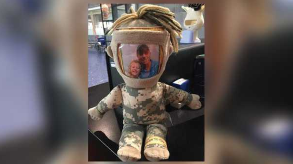 Less than an hour after a Kansas City, Miss. news outlet shared a Facebook post, the rightful owner of a military doll was identified. (Photo: KMBC)