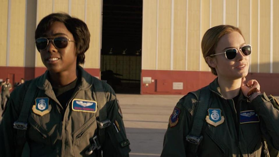 Maria and Carol preparing for flight in Captain Marvel