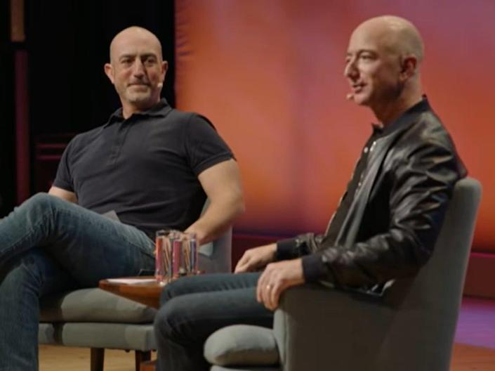 Mark Bezos (left) is the younger brother of Amazon founder Jeff Bezos (right) (YouTube/ Summit)