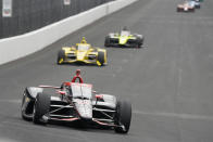 Will Power, of Australia, drives during the final practice session for the Indianapolis 500 auto race at Indianapolis Motor Speedway, Friday, May 28, 2021, in Indianapolis. (AP Photo/Darron Cummings)