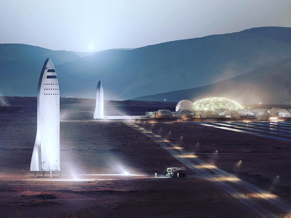 SpaceX CEO Elon Musk plans to make humanity multi-planetary by colonising Mars (SpaceX)
