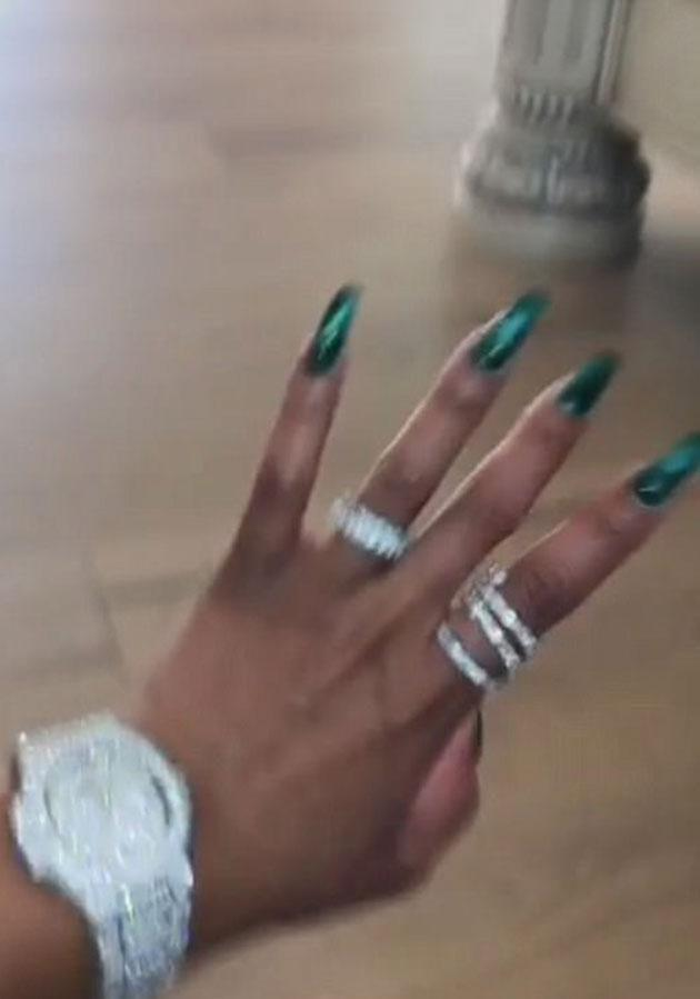 Chyna showed off the jewellery on Snapchat. Source: Snapchat