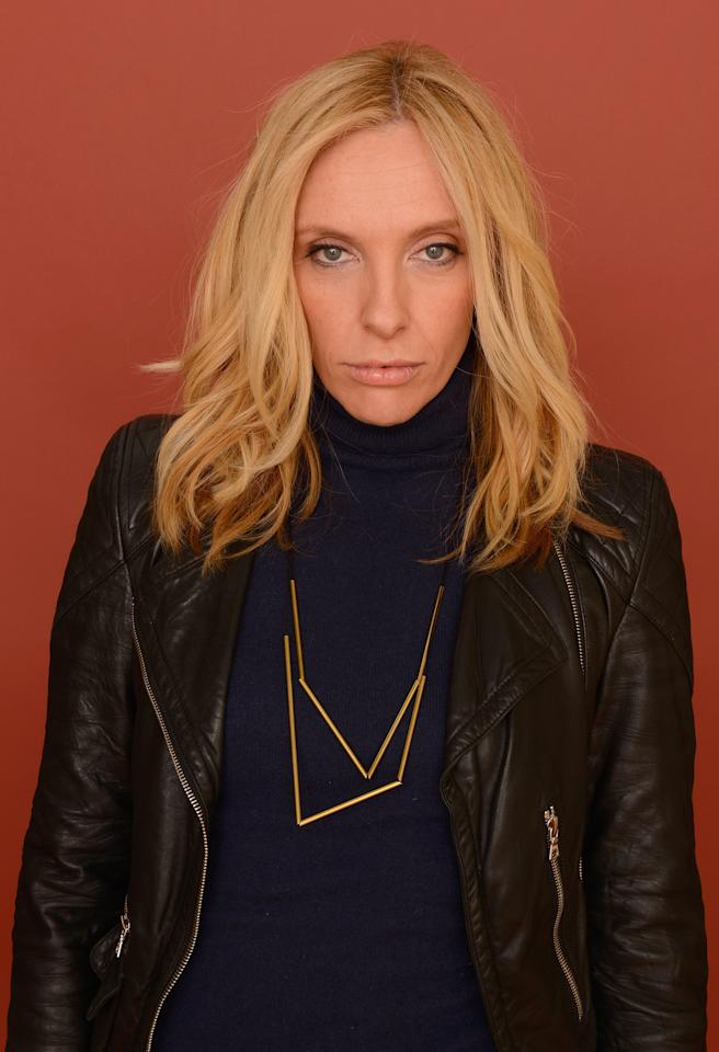 PARK CITY, UT - JANUARY 22:  Actress Toni Collette poses for a portrait during the 2013 Sundance Film Festival at the Getty Images Portrait Studio at Village at the Lift on January 22, 2013 in Park City, Utah.  (Photo by Larry Busacca/Getty Images)