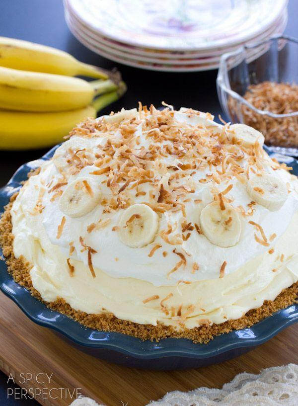 """<p>This pie is bananas.</p><p>Get the recipe from <a href=""""http://www.aspicyperspective.com/banana-cream-pie-recipe/"""" rel=""""nofollow noopener"""" target=""""_blank"""" data-ylk=""""slk:A Spicy Perspective"""" class=""""link rapid-noclick-resp"""">A Spicy Perspective</a>.</p>"""