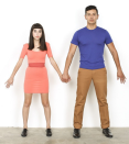 """<p>A pink dress, blue shirt, and tan pants are all you need to complete this simple and sweet couple <a href=""""https://www.goodhousekeeping.com/holidays/halloween-ideas/how-to/g3853/homemade-emoji-costumes/"""" rel=""""nofollow noopener"""" target=""""_blank"""" data-ylk=""""slk:emoji costume"""" class=""""link rapid-noclick-resp"""">emoji costume</a>. Don't worry, you don't have to hold hands all night long (unless you want to, of course). </p><p><a class=""""link rapid-noclick-resp"""" href=""""https://www.amazon.com/Daily-Ritual-Womens-Short-Sleeve-T-Shirt/dp/B0792DXVT1/?tag=syn-yahoo-20&ascsubtag=%5Bartid%7C10055.g.2625%5Bsrc%7Cyahoo-us"""" rel=""""nofollow noopener"""" target=""""_blank"""" data-ylk=""""slk:SHOP PINK DRESS"""">SHOP PINK DRESS</a></p><p><a class=""""link rapid-noclick-resp"""" href=""""https://www.amazon.com/Hanes-Premium-Cotton-T-Shirt-X-Large/dp/B00KBZQGC0/?tag=syn-yahoo-20&ascsubtag=%5Bartid%7C10055.g.2625%5Bsrc%7Cyahoo-us"""" rel=""""nofollow noopener"""" target=""""_blank"""" data-ylk=""""slk:SHOP BLUE SHIRT"""">SHOP BLUE SHIRT</a></p>"""