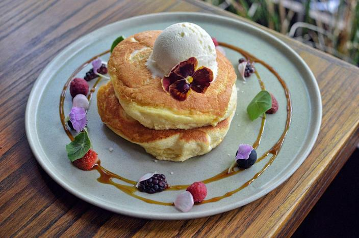 """<p>Turn any stack of pancakes into dessert by just adding a scoop of ice cream. Vanilla, chocolate, and coffee are all great flavors to try! </p><p><a class=""""link rapid-noclick-resp"""" href=""""https://go.redirectingat.com?id=74968X1596630&url=https%3A%2F%2Fwww.walmart.com%2Fip%2FThe-Pioneer-Woman-Gorgeous-Garden-Stainless-Steel-Trigger-Ice-Cream-Scoop%2F280922665&sref=https%3A%2F%2Fwww.thepioneerwoman.com%2Ffood-cooking%2Fmeals-menus%2Fg36146701%2Fbest-pancake-toppings%2F"""" rel=""""nofollow noopener"""" target=""""_blank"""" data-ylk=""""slk:SHOP ICE CREAM SCOOPS"""">SHOP ICE CREAM SCOOPS </a></p>"""