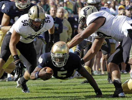 Rees rescues No. 22 ND in 20-17 win over Purdue