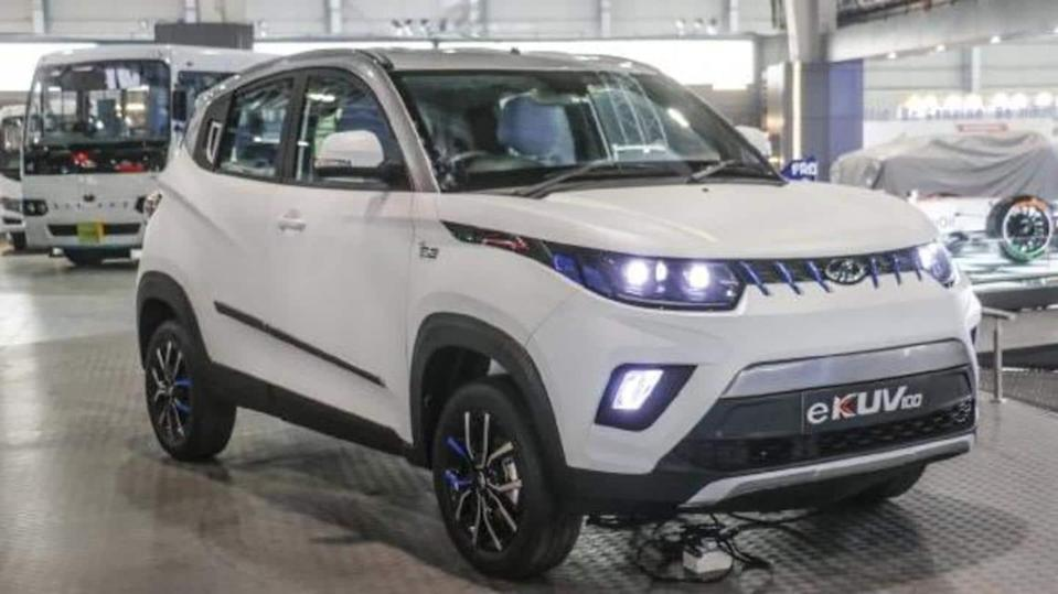 Mahindra eKUV100 spied testing; India launch expected in 2022