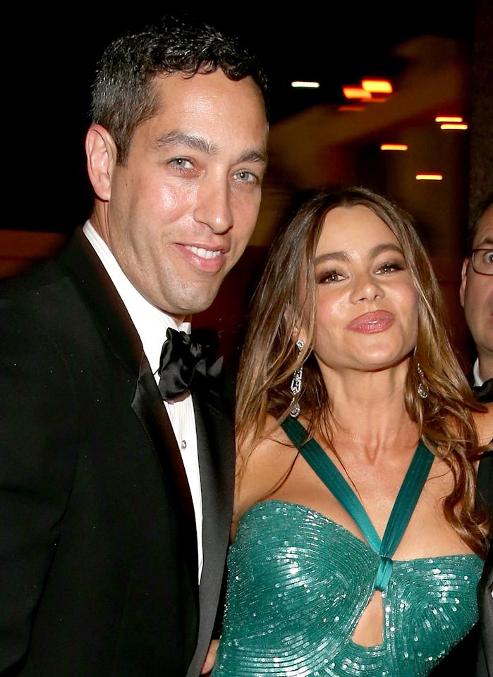 LOS ANGELES, CA - SEPTEMBER 23:   Nick Loeb and actress Sofia Vergara attend the FOX Broadcasting Company, Twentieth Century FOX Television and FX 2012 Post Emmy party at Soleto on September 23, 2012 in Los Angeles, California.  (Photo by Christopher Polk/Getty Images for FOX)