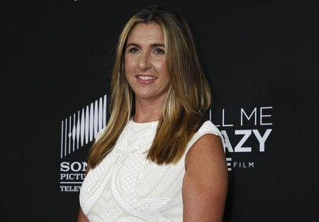 """FILE PHOTO - Dubuc, president, Entertainment and Media of A+E Networks arrives at the premiere of the Lifetime cable channel film """"Call Me Crazy: A Five Film"""" in Los Angeles"""