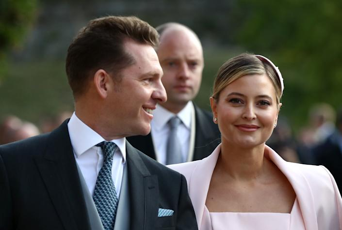 Nick Candy and Holly Candy arrive ahead of the wedding of Princess Eugenie of York to Jack Brooksbank at Windsor Castle on 12 October, 2018 in Windsor, England. Nick Candy is a longtime investor in Audioboom. Photo: Gareth Fuller/WPA Pool/Getty Images