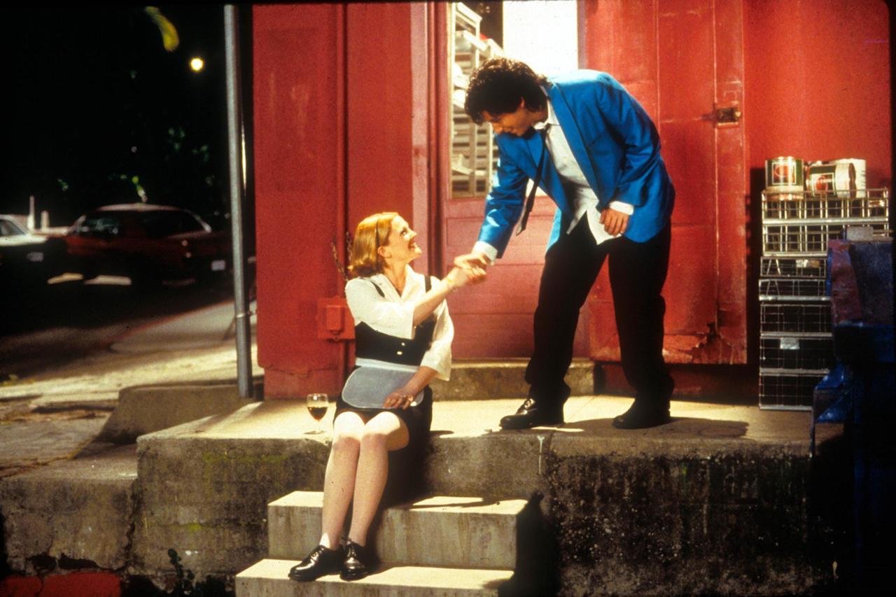 Adam Sandler worked with go-to costar Drew Barrymore for the first time on this 1998 movie, in which he plays a wedding singer who falls for a waitress in the '80s.