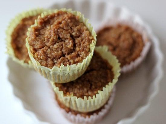 """<p>If all those pumpkin muffins are too hard to resist during the holidays, bake up a batch of these vegan pumpkin quinoa muffins immediately!</p> <p><b>Get the recipe</b>: <a href=""""https://www.popsugar.com/fitness/Pumpkin-Quinoa-Muffin-Recipe-31813772"""" class=""""link rapid-noclick-resp"""" rel=""""nofollow noopener"""" target=""""_blank"""" data-ylk=""""slk:vegan pumpkin quinoa muffins"""">vegan pumpkin quinoa muffins</a></p>"""