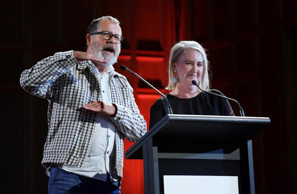 Adelaide festival artistic directors Neil Armfield and Rachel Healy.