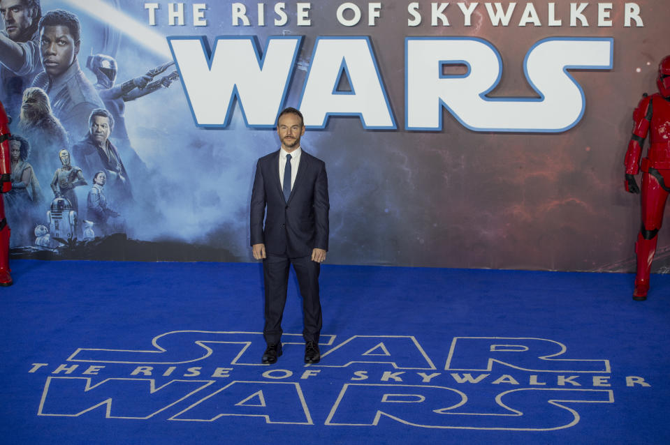 """LONDON, UNITED KINGDOM, DECEMBER 18, 2019: Chris Terrio attends the """"Star Wars: The Rise of Skywalker"""" European Premiere at Cineworld Leicester Square in London.- PHOTOGRAPH BY Gary Mitchell / Echoes Wire/ Barcroft Media (Photo credit should read Gary Mitchell / Echoes Wire / Barcroft Media via Getty Images)"""