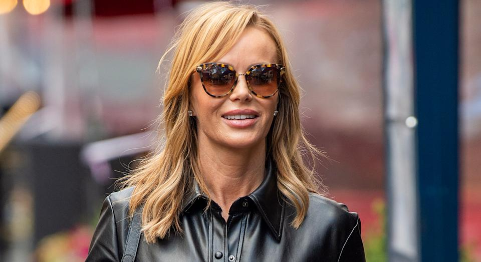 Amanda Holden stunned in a leather dress back in November, and has since worn a number of similar designs since - this is a trend we are on board with.  (Getty Images)
