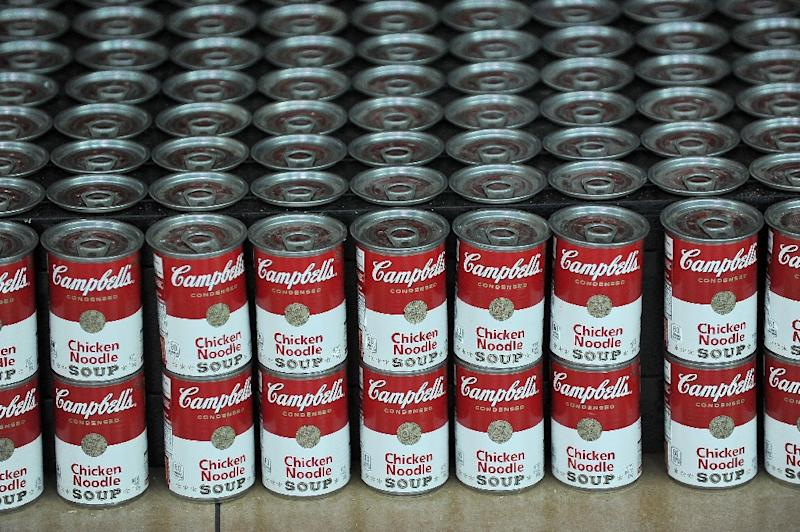 As Campbell Soup turns 150, the company is having to rethink the business of soup due in part to competition from private label companies. (AFP Photo/Jerod Harris)