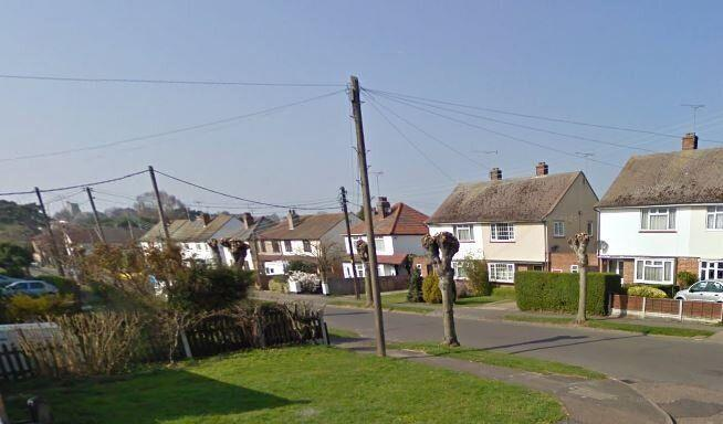 The attack happened outside the off-duty officer's home on Church Road, Rayleigh (Google Street View)