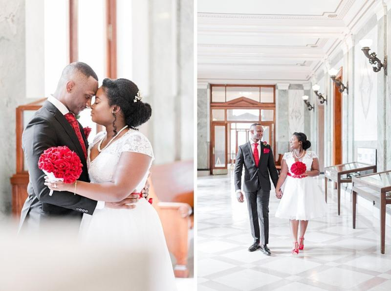 Mario and LaQuitta Carruth were married at Memphis, Tennessee City Hall in May 2017.  (Amy Hutchinson Photography)