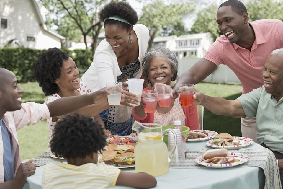 """<p>If you ever attend a Juneteenth festival, you'll notice an abundance of red food and drinks, as the color represents the ingenuity and resilience of enslaved people. So you'll almost certainly see people washing down their meals with red drinks like strawberry soda and Big Red, the popular Texan soda. It's also common for folks to bring red foods like <a href=""""https://www.thedailymeal.com/recipe/red-velvet-pecan-mug-cake?referrer=yahoo&category=beauty_food&include_utm=1&utm_medium=referral&utm_source=yahoo&utm_campaign=feed"""" rel=""""nofollow noopener"""" target=""""_blank"""" data-ylk=""""slk:red velvet cake"""" class=""""link rapid-noclick-resp"""">red velvet cake</a>, <a href=""""https://www.thedailymeal.com/free-tagging-cuisine/strawberry?referrer=yahoo&category=beauty_food&include_utm=1&utm_medium=referral&utm_source=yahoo&utm_campaign=feed"""" rel=""""nofollow noopener"""" target=""""_blank"""" data-ylk=""""slk:strawberries"""" class=""""link rapid-noclick-resp"""">strawberries</a>, <a href=""""https://www.thedailymeal.com/cook/how-pick-perfect-watermelon?referrer=yahoo&category=beauty_food&include_utm=1&utm_medium=referral&utm_source=yahoo&utm_campaign=feed"""" rel=""""nofollow noopener"""" target=""""_blank"""" data-ylk=""""slk:watermelon"""" class=""""link rapid-noclick-resp"""">watermelon</a> and more.</p> <p>Here are a few red recipes perfect for Juneteenth:</p>"""