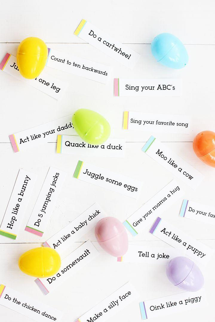 "<p>These fun printables, with directions like ""hop like a bunny"" or ""do a somersault,"" will get everyone up and moving on Easter Sunday. </p><p><a href=""http://www.aliceandlois.com/easter-egg-hunt-free-printable/"" rel=""nofollow noopener"" target=""_blank"" data-ylk=""slk:Get the tutorial at Alice and Lois »"" class=""link rapid-noclick-resp""><em>Get the tutorial at Alice and Lois »</em></a></p>"
