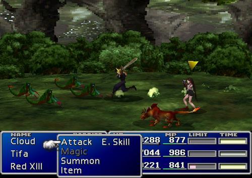Screenshot from FInal Fantasy VII on PlayStation