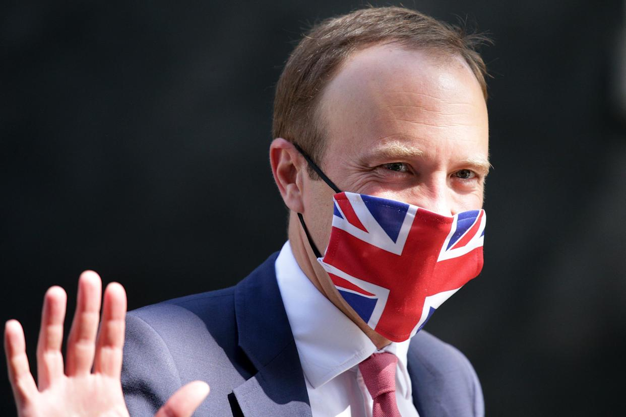 LONDON, UNITED KINGDOM - JUNE 23: British Secretary of State for Health and Social Care Matt Hancock leaves 10 Downing Street in London, United Kingdom on June 23, 2021. (Photo by David Cliff/Anadolu Agency via Getty Images)