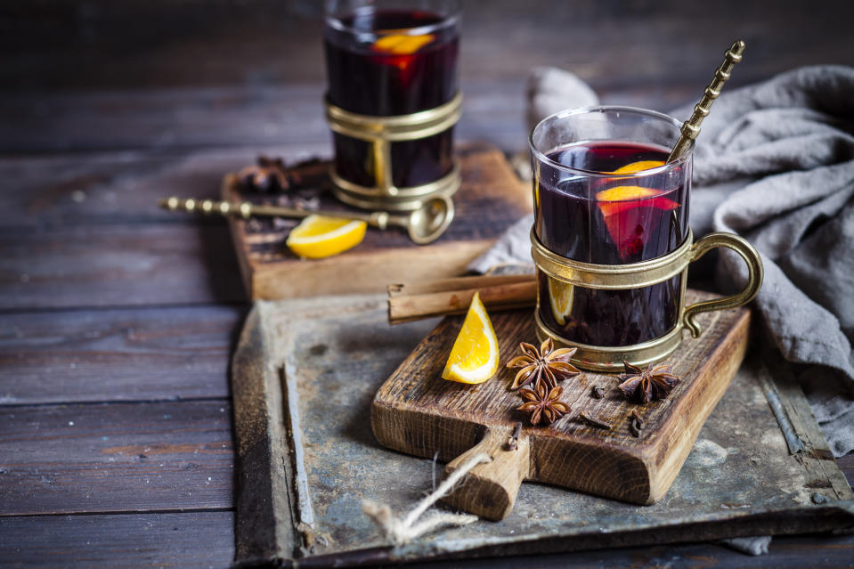 """<p>Remember the term resveratrol because it's very important. The naturally occurring compound is found in foods including red grapes, red wine, raspberries and dark chocolate. Turns out it's r<a href=""""http://doctormurray.com/resveratrol-shown-to-improve-memory-and-brain-function/"""" rel=""""nofollow noopener"""" target=""""_blank"""" data-ylk=""""slk:eally useful"""" class=""""link rapid-noclick-resp"""">eally useful</a> when it comes to memory as it stops harmful immune molecules from getting into brain tissue. If you have nutmeg in your mulled wine, that too can stimulate the brain, decreasing fatigue and stress and improving your concentration levels. <i>[Photo: Getty]</i><br><br><br></p>"""