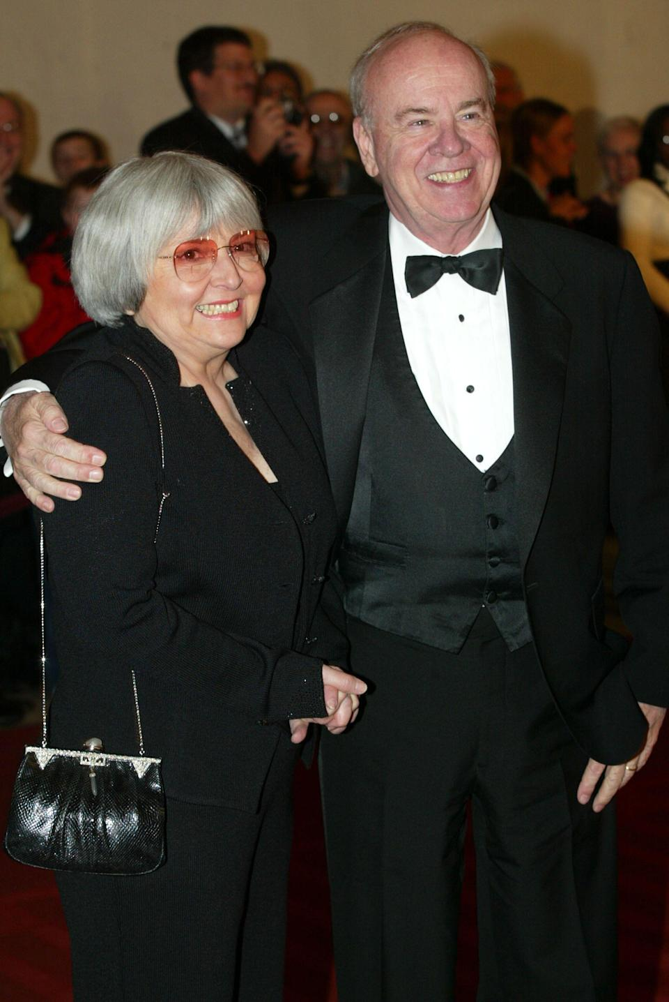 Comedian Tim Conway pictured with wife Charlotte at the 5th Annual Kennedy Center Mark Twain Prize presentation ceremony in 2002 in Washington D.C. (Photo: Alex Wong/Getty Images)