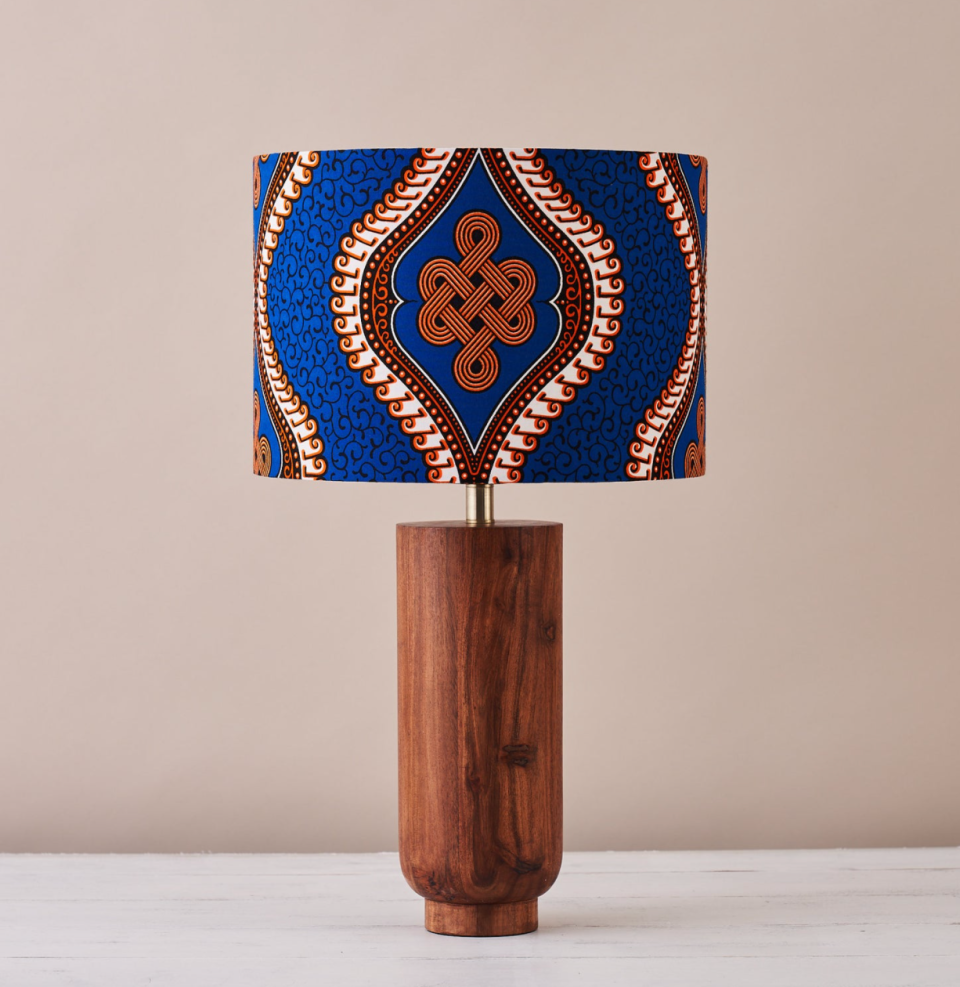 African Wax Print Drum Lampshade (Photo via Etsy)