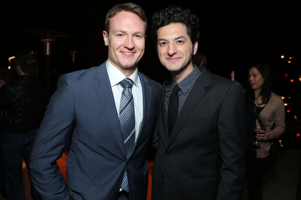 Josh Lawson and Ben Schwartz at Showtime's 7th Annual Holiday Soiree on December 3, 2012 in Beverly Hills, California.