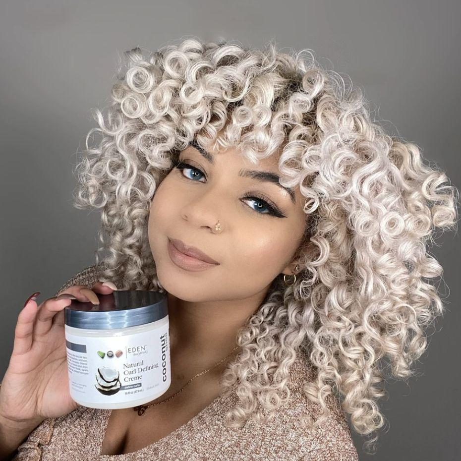 """Define and hydrate curls with this formula, which is ideal forwash 'n gos, twist or braid outs. Avocado oil, aloe, coconut oil and shea butter will leave your hair super soft.<br /><br /><a href=""""https://go.skimresources.com?id=38395X987171&xs=1&url=https%3A%2F%2Fedenbodyworks.com%2Fproducts%2Fcoconut-shea-curl-defining-creme&xcust=HPPersonalCare6086e680e4b003896e07bb4b"""" target=""""_blank"""" rel=""""nofollow noopener noreferrer"""" data-skimlinks-tracking=""""5892167"""" data-vars-affiliate=""""goto.target.com"""" data-vars-asin=""""none"""" data-vars-campaign=""""InexpensivePersonalCareLord3-11-21-5892167"""" data-vars-href=""""https://www.amazon.com/stores/EDEN+BodyWorks/page/C3FBE307-3889-47B0-BBA0-B65355949AC2?ref_=ast_bln&tag=bfemmalord-20&ascsubtag=5892167%252C12%252C50%252Cmobile_web%252C1%252C0%252C16502767"""" data-vars-keywords=""""skincare"""" data-vars-link-id=""""16502767"""" data-vars-price="""""""" data-vars-product-id=""""1"""" data-vars-product-img=""""none"""" data-vars-product-title=""""Placeholder- no product"""" data-vars-redirecturl=""""https://www.target.com/p/eden-bodyworks-coconut-shea-curl-defining-creme-16-fl-oz/-/A-16376971"""" data-vars-retailers="""""""">Eden BodyWorks</a>is a Black woman-owned business that specializes in natural hair products for2A to 4C hair. From deep conditioners to nourishing masks, you'll find so many essentials for your hair care routine.<br /><br /><strong>Promising review</strong>: """"This curl defining creme is really good, and I consider it a must have. I have 4a, high density, low porosity, coarse hair.<strong>This gives my hair great definition and moisture. I think it works best as a part of the LCO method.</strong>Personally, I dampen my hair with water, apply this creme, and then follow up with a little bit of apricot or sweet almond oil. It doesn't mix well with products from other brands or other products in general other than oil, but that's not a bad thing considering you don't need anything else.<strong>Would definitely recommend this over curl-defining cremes from other brands</strong>."""