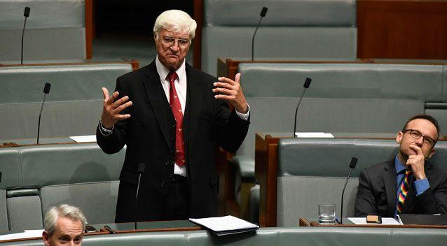 Queenslander Bob Katter and three others were the only ones not to vote 'Yes.' Photo: AAP