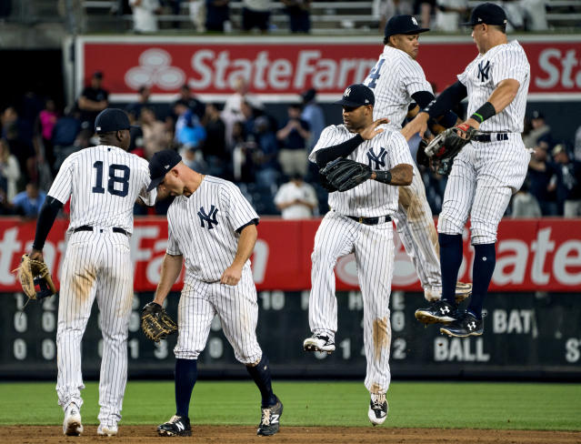 The Yankees will celebrate if their young stars can overcome the moment. (AP Photo)