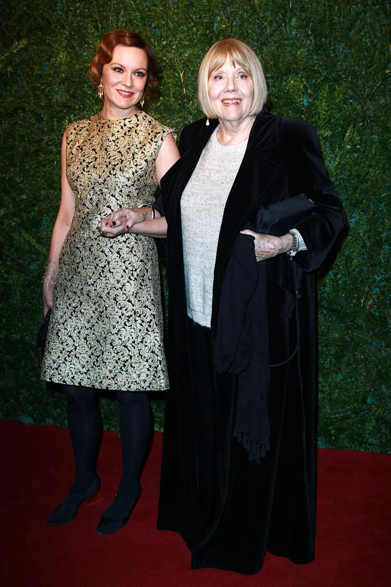 LONDON, UNITED KINGDOM - NOVEMBER 30: Rachel Stirling and Diana Rigg attends the 60th London Evening Standard Theatre Awards at London Palladium on November 30, 2014 in London, England. (Photo by Fred Duval/FilmMagic)