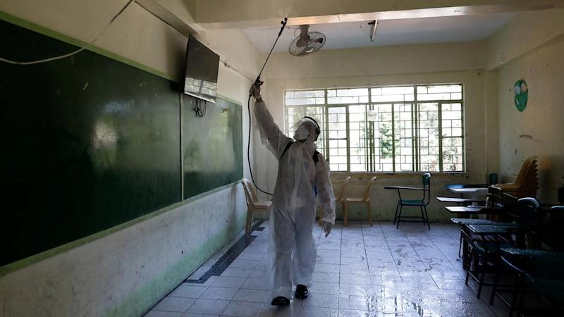 School disinfection amid new cases of