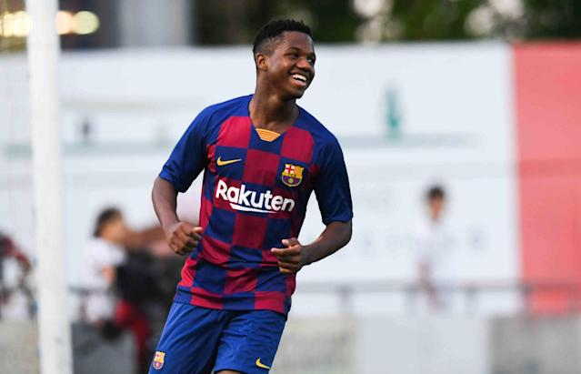 Ansu Fati became Barcelona's youngest player in 78 years to feature in LaLiga when he replaced Carles Perez against Real Betis.