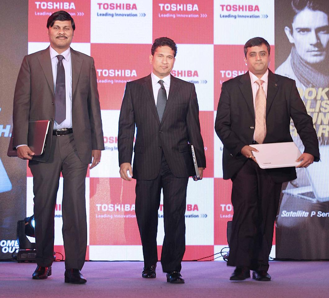 Sachin Tendulkar seen at a product launch