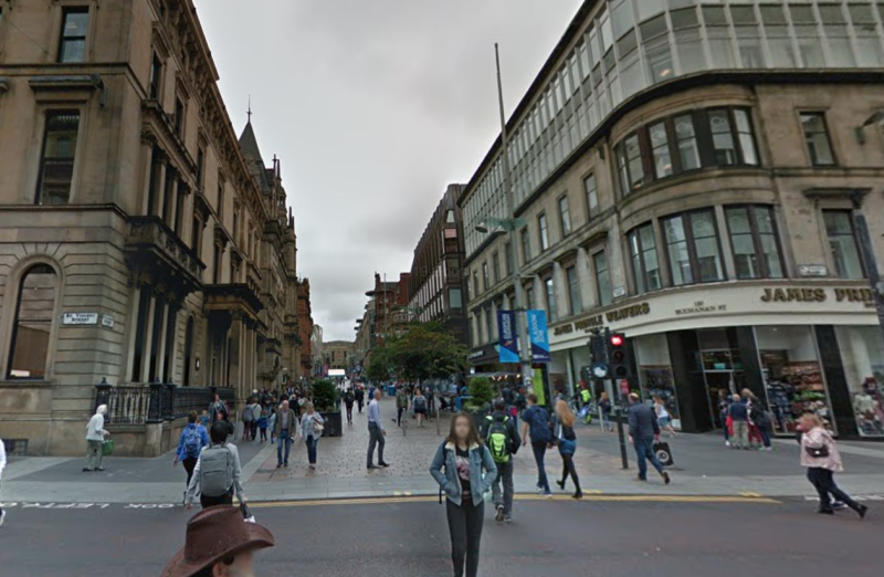 Many of Ahmed's clips were filmed on Buchanan street in Glasgow. (Google)