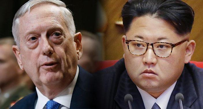 Defense Secretary James Mattis, left, and North Korean leader Kim Jong Un. (Photos: Manuel Balce Ceneta/AP, Wong Maye-E/AP)