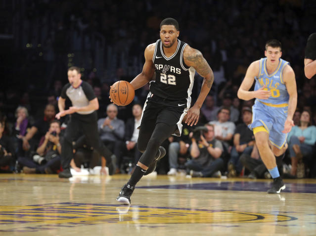 "<a class=""link rapid-noclick-resp"" href=""/nba/players/4136/"" data-ylk=""slk:Rudy Gay"">Rudy Gay</a> has played 12 NBA seasons. (AP)"
