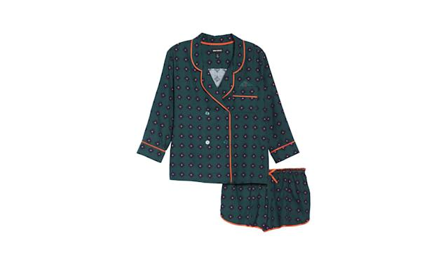 "<p>Shorty flannel pajamas, $78, <a href=""https://shop.nordstrom.com/s/room-service-shorty-flannel-pajamas/4738822"" rel=""nofollow noopener"" target=""_blank"" data-ylk=""slk:nordstrom.com"" class=""link rapid-noclick-resp"">nordstrom.com</a> </p>"