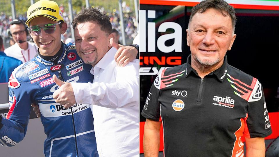 Former world champion and MotoGP team boss Fausto Gresini is pictured here.