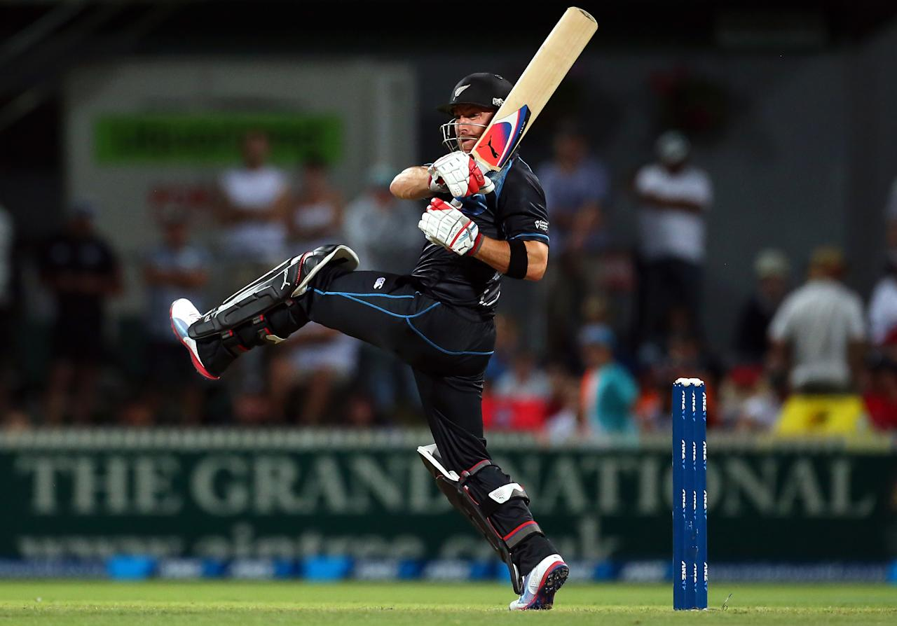 HAMILTON, NEW ZEALAND - FEBRUARY 17: Brendon McCullum of New Zealand bats during the first match of the one day international series between New Zealand and England at Seddon Park on February 17, 2013 in Hamilton, New Zealand.  (Photo by Phil Walter/Getty Images)