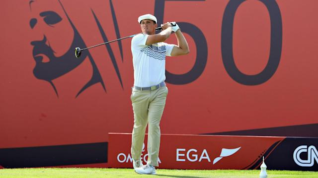 Defending champion Li Haotong was one shot off the pace after round three of the Dubai Desert Classic, with Bryson DeChambeau in front.