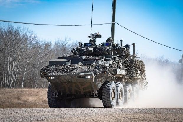Up to 2,500 soldiers are participating in Maple Resolve, a large scale exercise being held on a training range near CFB Wainwright in eastern Alberta. (Canadian Armed Forces - image credit)