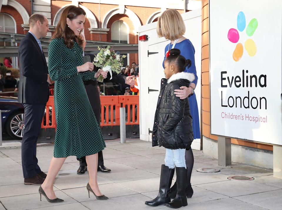 Kate Middleton made a stylish entrance at the Evelina London Children's Hospital. (Photo: Chris Jackson/Getty Images)