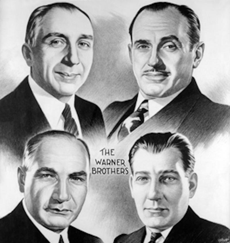 The Warner brothers; Sam Warner is at lower right. (Image: Warner Bros.)